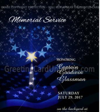 Dads Memorial Card