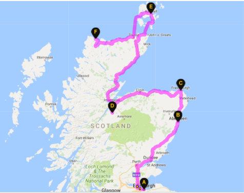 Route Planner Scotland East Coast